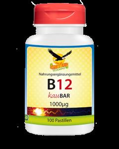 Vitamin B12 Lutsch - 1.000μg mit Xylit KauBar, 100 Stk